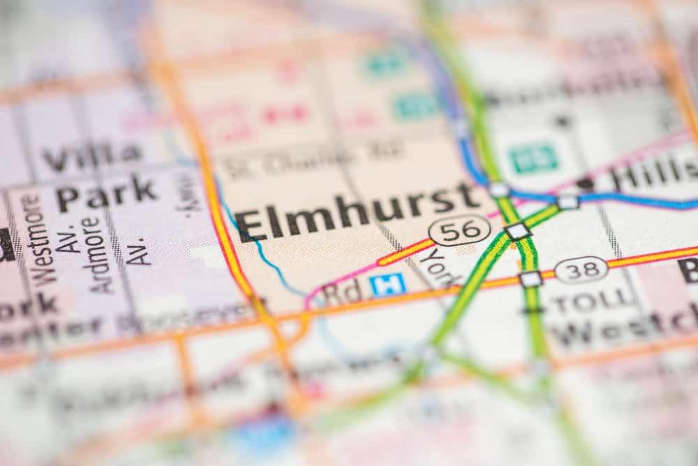 Elmhurst, IL on a Map