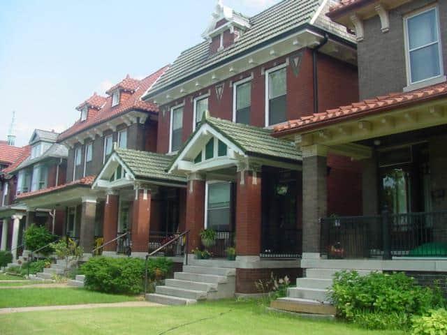 Two-family flats in the Skinker DeBaliviere neighborhood